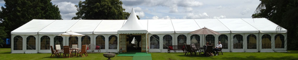Clearspan marquee looking fabulous