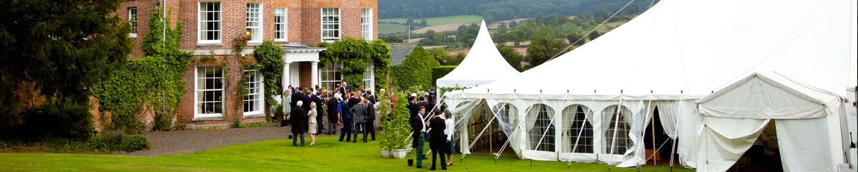 Traditional Wedding Marquee on house grounds