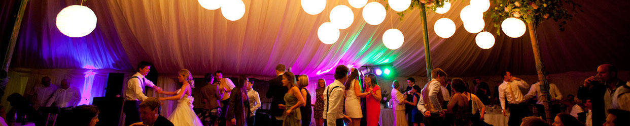 Dancing at a ball with fantastic indoor lighting