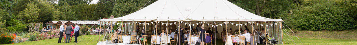 Marquee Hire in the garden